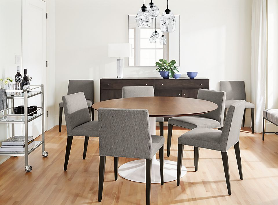 Detail of Aria 54-inch round dining table