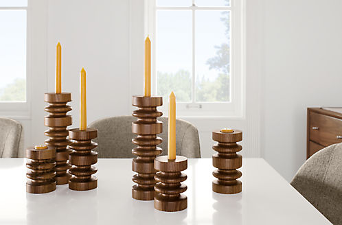 Detail Of Astor Candle Holders On Table