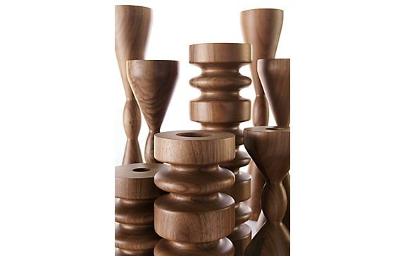 Astor and Halifax Walnut Candle Holders