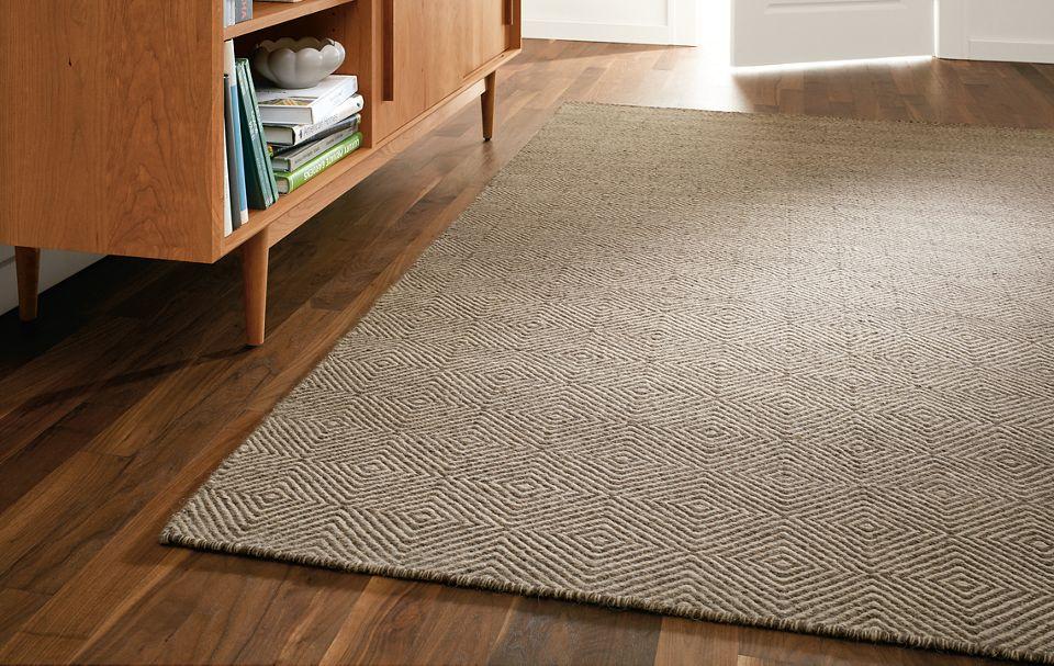 Detail of Avani rug in living room