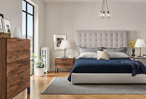 Kenwood Nightstands With Ceramic Tops   Mid Century U0026 Modern Nightstands    Modern Bedroom Furniture   Room U0026 Board