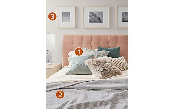 Bedroom Throw Pillow Mix