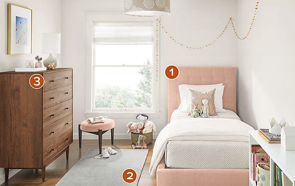 Avery Storage Bed in Vance Rose