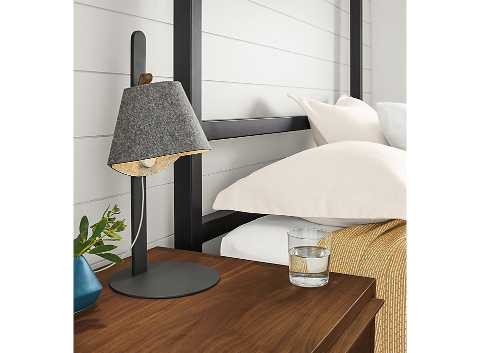 Detail of Avi table lamp in middle of base