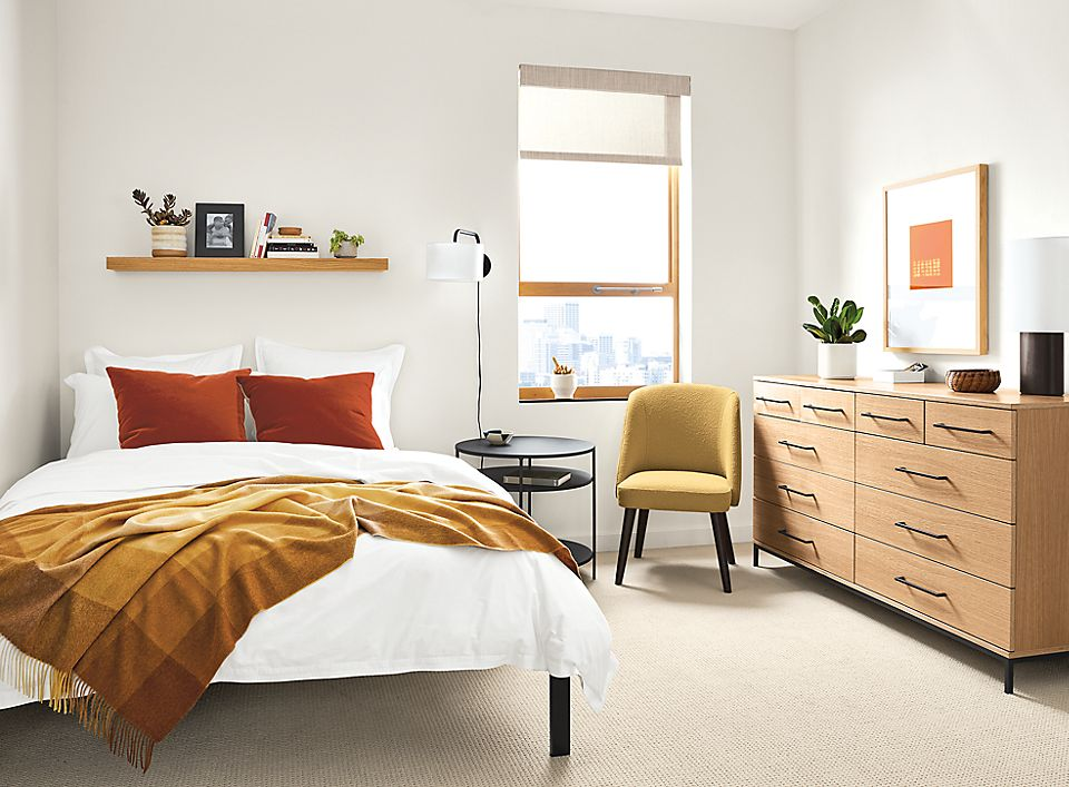 Small Space Bedroom with Baker Dresser - Room & Board