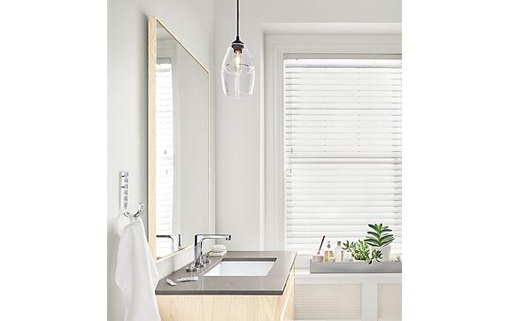 Hudson Bathroom Vanity with Fog Quartz Counter