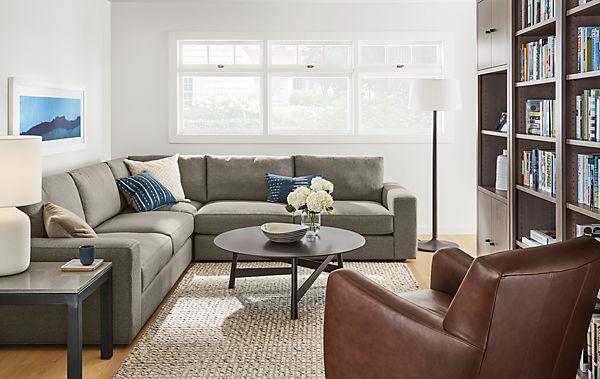 Beckett Sectional Living Room - Modern Living Room Furniture - Room ...