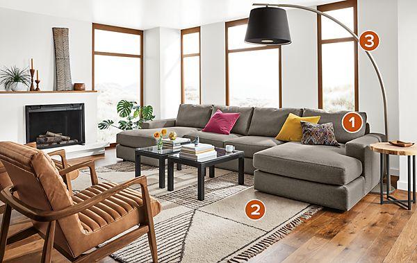 Beckett U-shaped Sectional - Modern Living Room Furniture - Room & Board