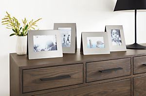 Detail of Bend picture frames in stainless steel