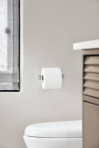Detail of Bend wall mounted single toilet paper holder