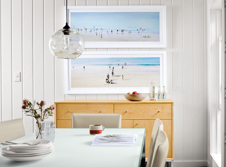 Detail of Benic silkscreens in dining room