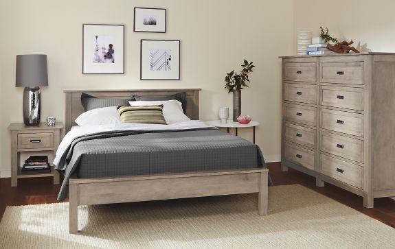 Bedroom Boards Collection bennett bedroom collection in shell finish - modern bedroom