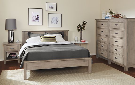 Bennett Bedroom Collection in Shell Finish