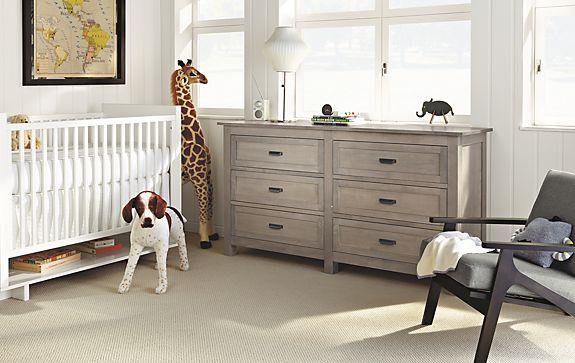Nursery With Bennett Dresser In Shell Finish Modern Kids Room Board