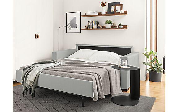 Berin Wide Arm Sleeper Sofa in Dawson Grey