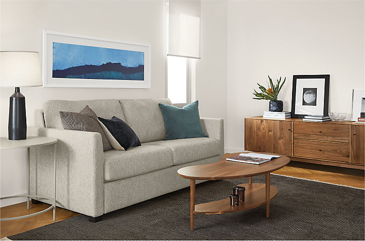 Berin sleeper sofa in small living room