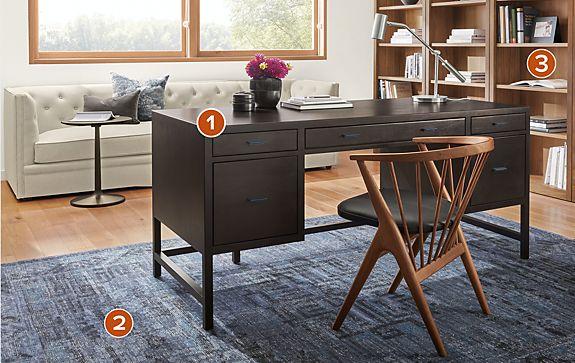 Berkeley Desk in Charcoal