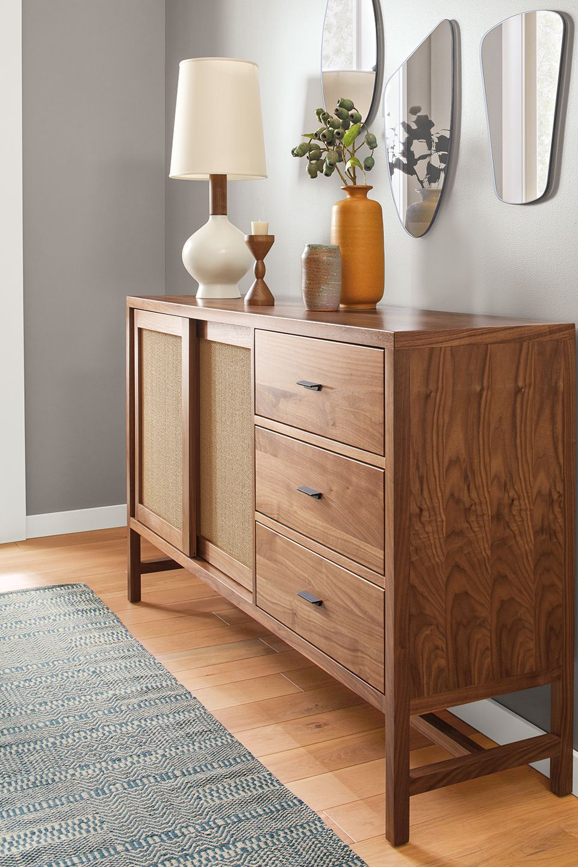 Side detail of Berkekley storage cabinet