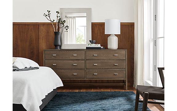 Berkeley Six-drawer Dresser in Bark Stain