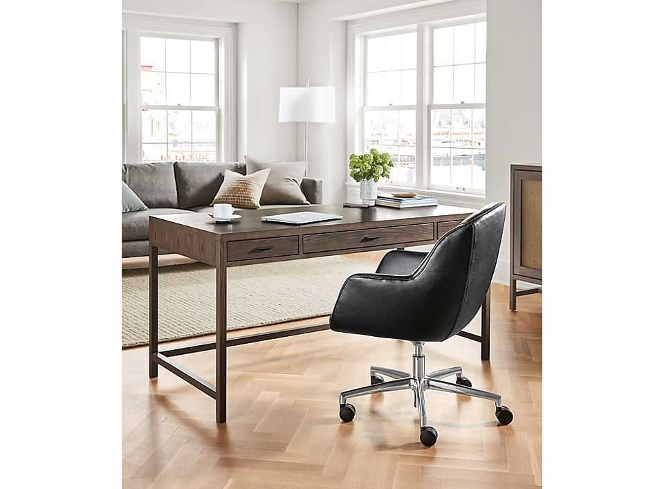 Berkeley Desk In Bark With Nico Office Chair