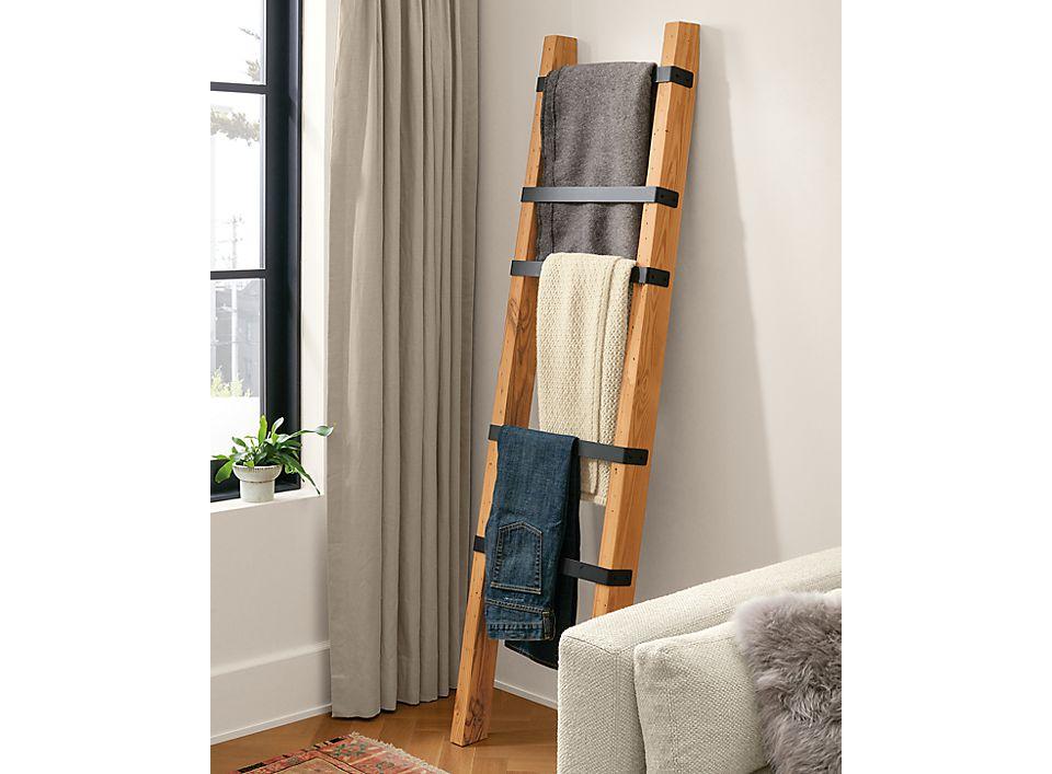 Detail of Bruns ladder in living room