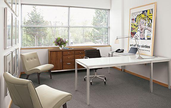 Portica L-Shaped Desk & Linear Office