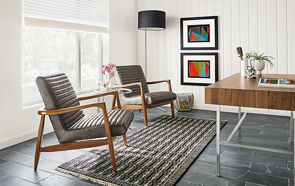Callan Chairs in Leather - Modern Office Furniture - Room & Board