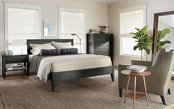 calvin bedroom in charcoal modern bedroom furniture room board. Black Bedroom Furniture Sets. Home Design Ideas