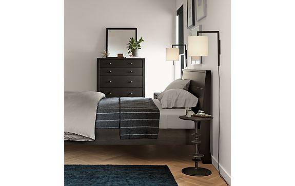 Calvin Bedroom in Charcoal