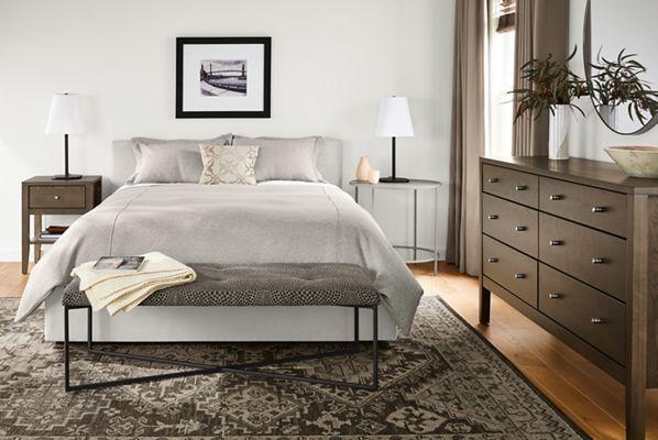 Wyatt Upholstered Bed Modern Contemporary Beds Bedroom Furniture Room Board