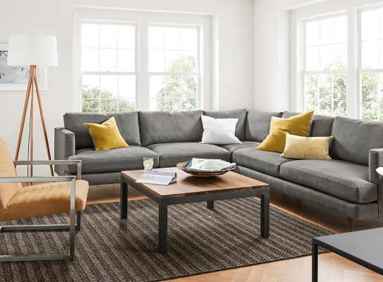 C&bell Sectional in Sumner Graphite : room and board sectional - Sectionals, Sofas & Couches