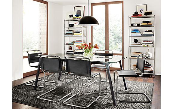 Cass Table in Natural Steel Dining Room