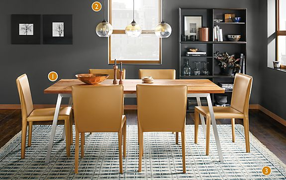 Share This Room. Cass Table with Sava Leather Chairs   Modern Dining Room Furniture