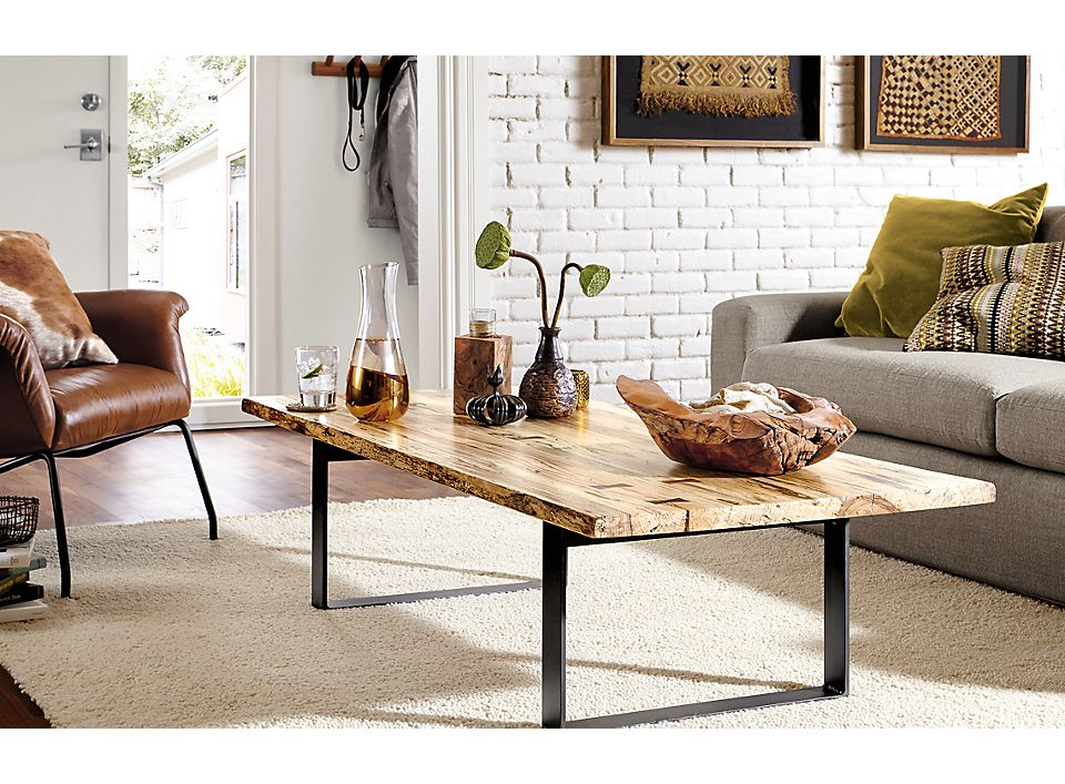 Side detail of Chilton coffee table in living room