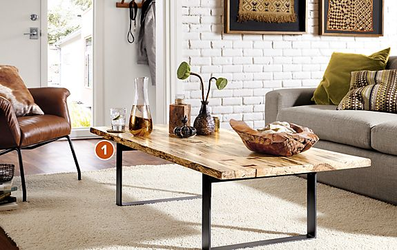 Chilton Spalted Sugarberry Cocktail Table Room