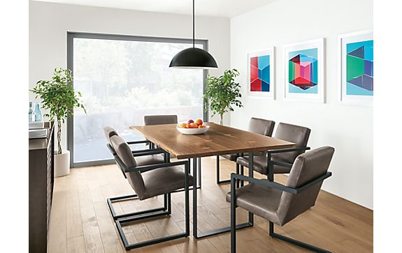 Chilton Dining Table in Walnut with Lira Chairs