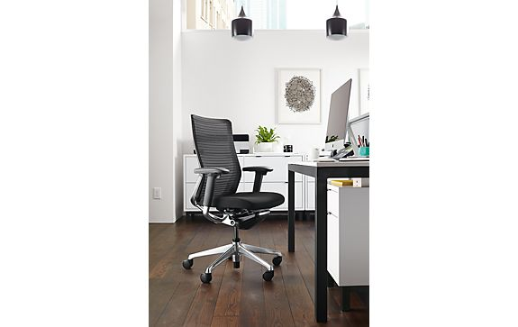 Ch Office Chair With Parsons Desk