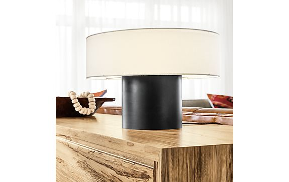 Clement Table Lamp in Natural Steel