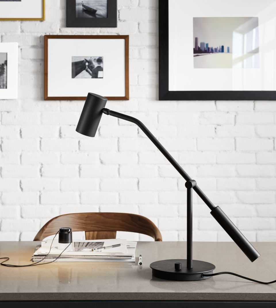 Detail view of Coda table task lamp