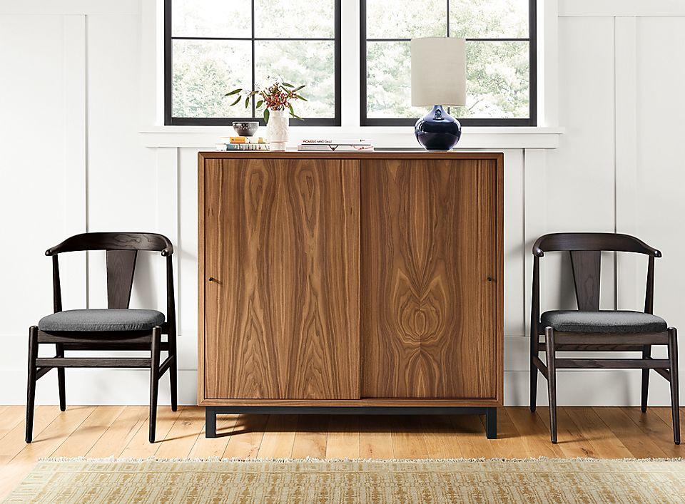 Custom two-door Copenhagen storage cabinet