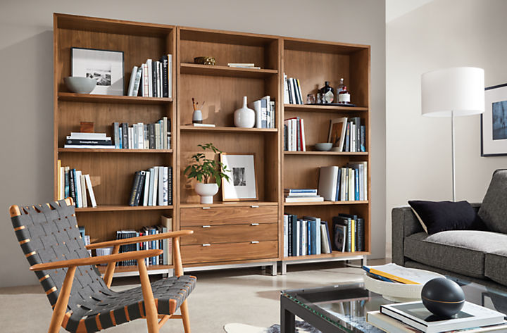 Detail of Copenhagen three-drawer wall unit