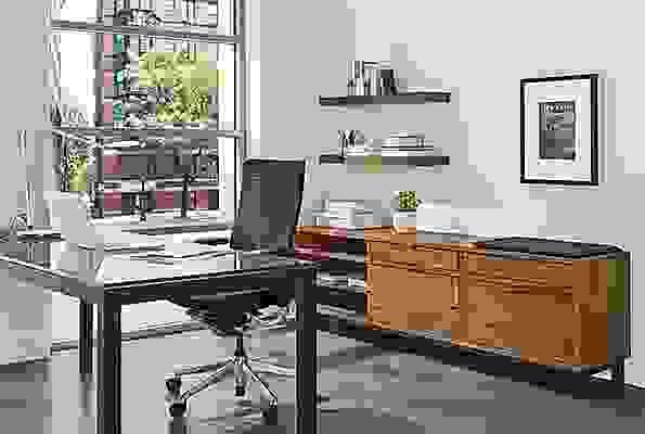Detail of Copenhagen office file bench