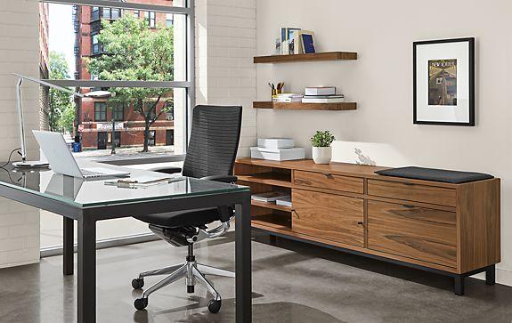 Parsons Desk & Benching File Storage