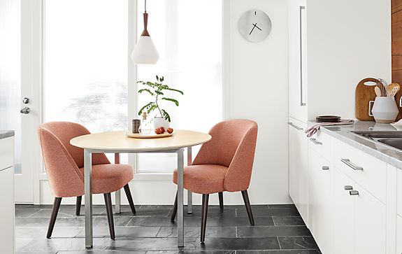 Cora Chairs In Spice With Portica Round Table