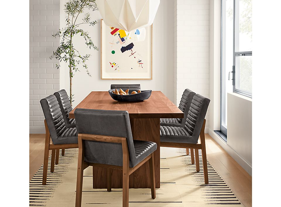 Corbett walnut table with Olsen chairs