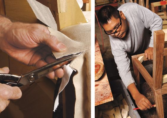 Experienced Artisans Take A Hands On Approach To The Fine Points Of  Furniture Making.