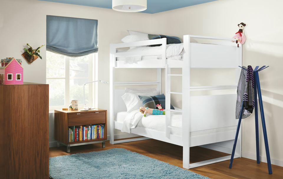Detail of white Dayton bunk bed