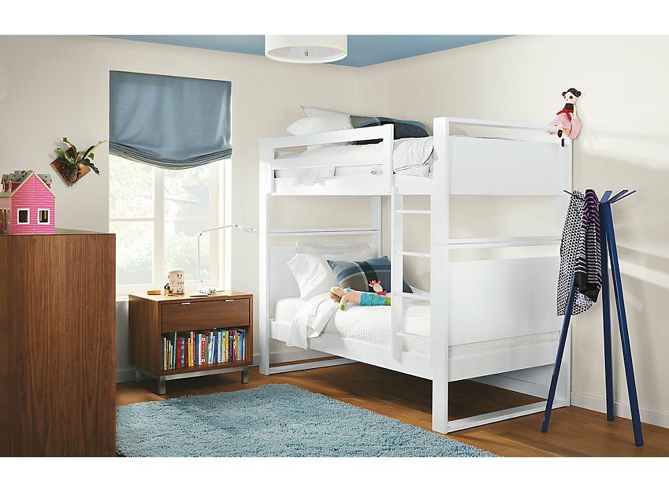 Detail of white Dayton bunk bed