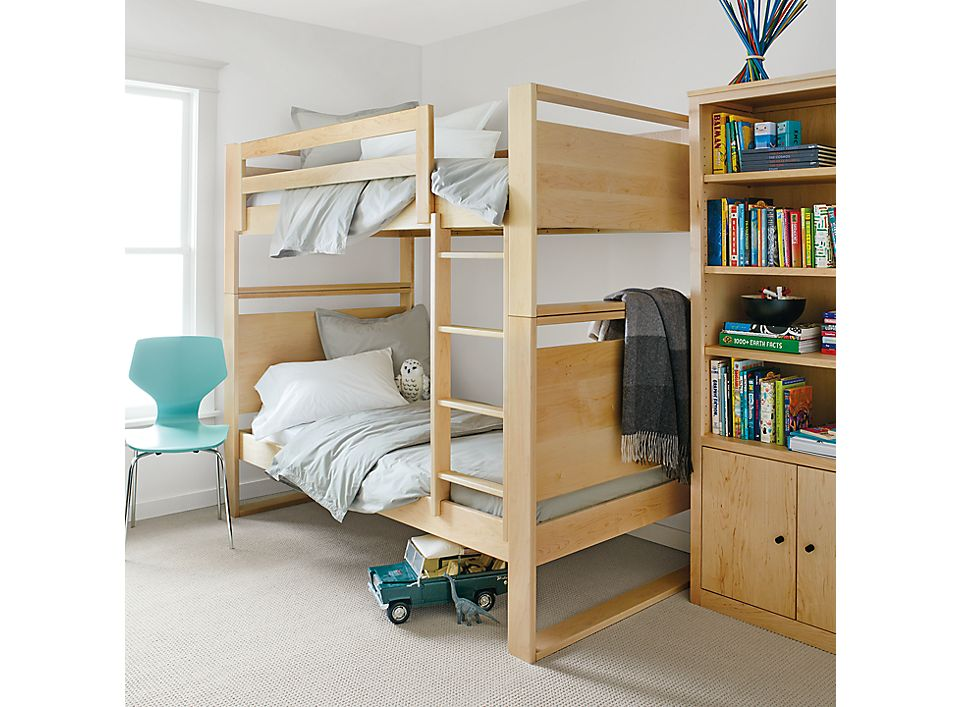 Side view of Dayton wood bunk bed