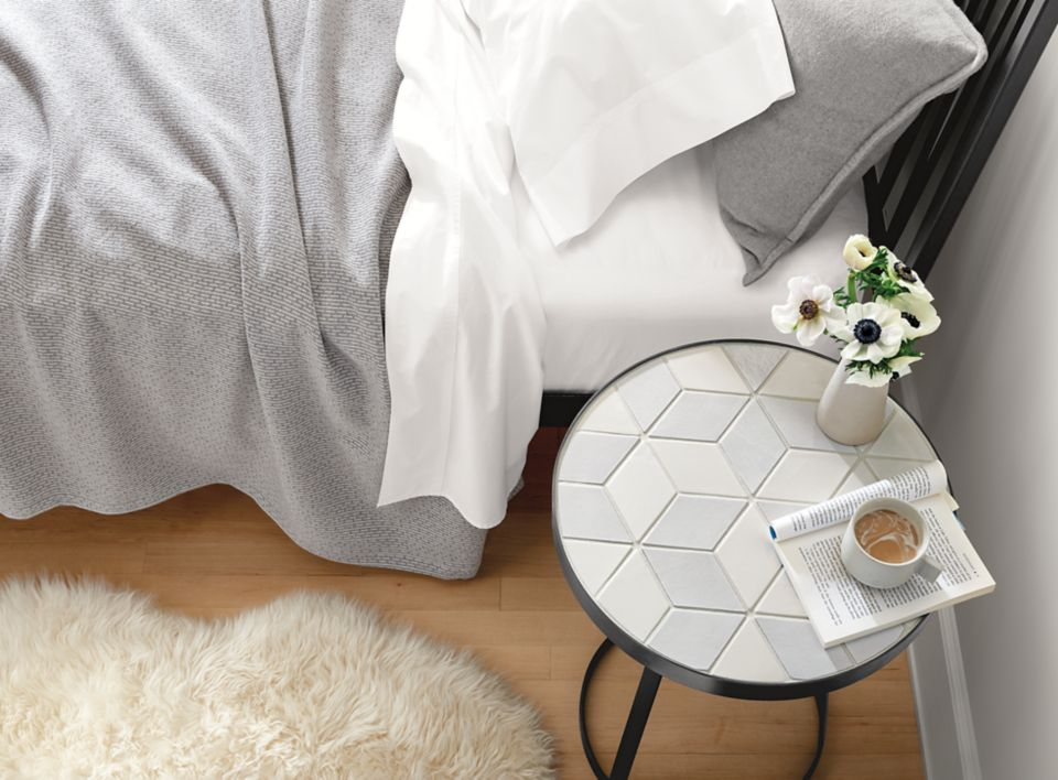 Top down view of Doro tile end table
